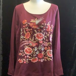 ☀️Johnny Was Top SZ LG Exquisitely Embroidered